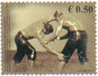 Stamp from UN Offices in Kosovo