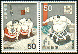 Sumo stamps from Japan